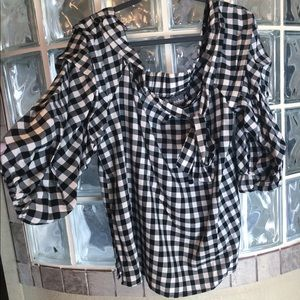 New York and Company off the shoulder blouse